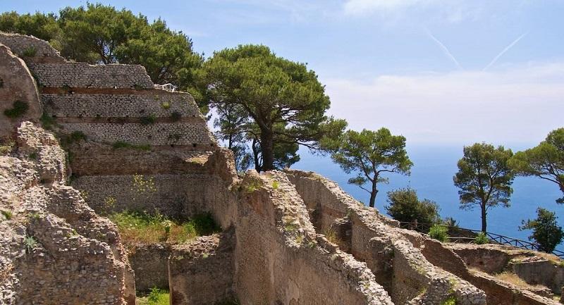 Vista da Villa Jovis em Capri