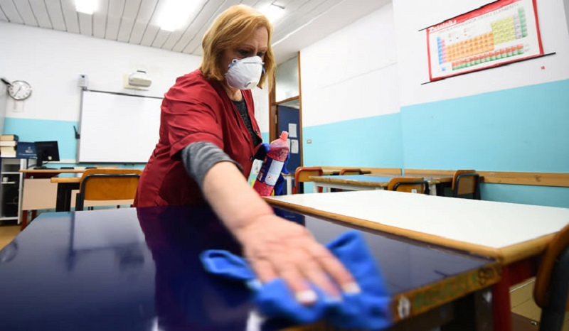 Escola durante pandemia na Itália